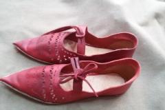 Dámské boty přelom 14. a 15. století