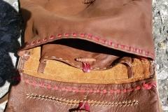Kožená taška přes rameno 13.-15. stol.