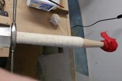 Renovace jílce dlouhého meče. Provazová omotávka.