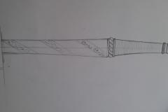 Renovace jílce dlouhého meče. Návrh zdobení.